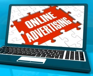 Online Advertising On Laptop Shows Websites Promotions And Ecommerce Strategies