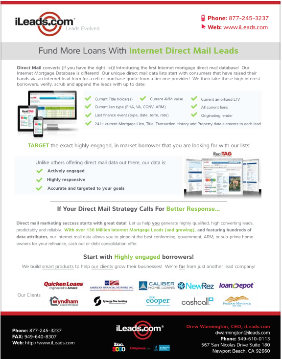 Internet Direct Mail Leads