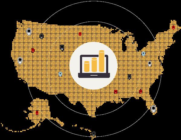 iLeads USA dot map